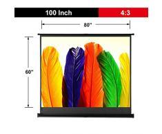 """Excelvan 100"""" Diagonale 4:3 Rapporto di Aspetto 1.1 Guadagno Telo Proiettore HD Portatile con Treppiede Stabile"""