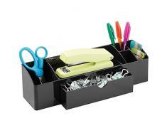 InterDesign, organizer con cassetto da scrivania per gli accessori dell'ufficio, nero