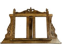 Leggio da appoggio in legno finitura noce L57xPR7xH38 cm