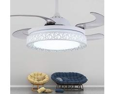 Lampadari, lampade a sospensione e plafoniere Ventilatori da soffitto da 42 pollici con lampada, lampadario a LED a LED, ventilatore a sospensione per sala da pranzo, ventilatore a pale in ABS, interr