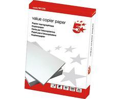 5 Star Value 961298 - Carta da fotocopie, formato A4, 80 g, CIE 146, risma da 500 fogli, colore: Bianco