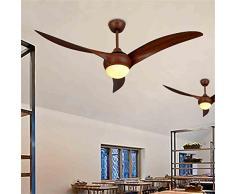 LIXIONG American Restaurant Cafe Retro ventilatore con lampade a LED soggiorno camera da letto ventilatore plafoniera Kiba Continental