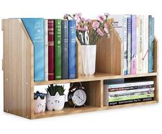 YIJIAN Desktop Organizer Multi-Function Legno Bookshelf Dell'Organizzatore Di Immagazzinaggio Mensola Di Esposizione Della Cremagliera Office Desk Organizer Ecologico/Come mostrato/Come