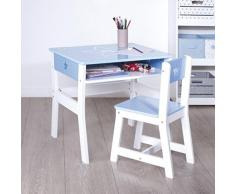 Scrivania in legno per bambini - Pratica e ingegnosa - Colore: BLU