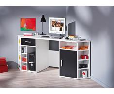 Links 13300200 Fabri scrivania angolare bianco/nero 181 x 67 x 78 cm