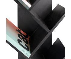 Mobili Rebecca® Libreria Scaffale 10 Mensole Legno Nero Stile Contemporaneo Salone Ufficio (Cod. RE4654)