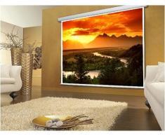 """Schermo Proiezione manuale a molla 300x225cm, Telo da Videoproiettore Avvolgibile 300 x 225cm """"Classic-Pro"""" ottimo per ogni Proiettore 100% Professionale di Qualità Superiore HD!"""
