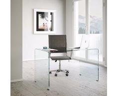 Scrivania in vetro acquista scrivanie in vetro online su for Scrivanie in vetro e acciaio