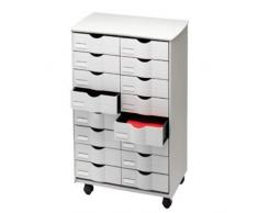 Paperflow DT162.02 - Cassettiera da ufficio con rotelle, 16 cassetti, 580 x 715 x 343 mm, grigio