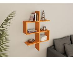 SENSE DOLLAR Mensola da muro - Arancione - Mensola Parete - Mensola Libreria - Scaffale pensile per studio / soggiorno in Design moderno