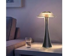 ZMH Lampada da tavolo LED lampade in titanio - Dimmerabile lampade da tavolo e abat-jour con batteria ricaricabile lampada da comodino interna lampada da tavolo dayable con ricarica USB