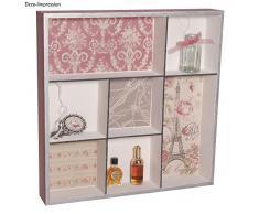 RAYHER 62612000 in legno per mensola portaoggetti in legno FSC Mix Credit, 26 x 26 x 4 cm, 7 scomparti