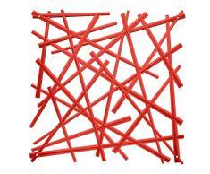 Parete divisoria Stixx, rosso, Hauteur 27 Largeur 27 Profondeur 0
