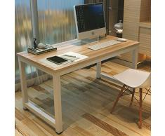 GOTOTOP Tavolo per Computer, Computer Desk Scrivania Postazioni di lavoro,Tavolo da pranzo Tavoli riunioni per casa e ufficio studio e scrittura,120×60×74cm (bianco)