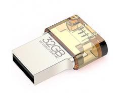 EAGET V8 Crittografia metallo Memoria di archiviazione portatile USB micro per Tablet PC USB Flash Drive USB 2.0 OTG Smartphone
