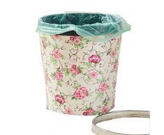 No moda rifiuti domestici copertura vita creativa camera d'albergo cucina bagno ufficio cestino , 19- peony