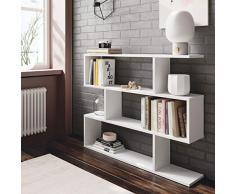 MarinelliGroup Libreria scaffale Multiuso Bianco con Ripiani 110 X 25 X 97 cm Salone Studio Camera - 301010BO