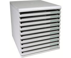Exacompta 325414D - Cassettiera archivio da ufficio Modulo, formato A4, 10 ripiani aperti, grigio chiaro