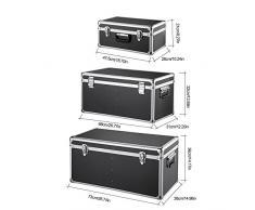 iKayaa 3PCS Multi-Purpose Alluminio Cassette Porta Attrezzi con Serratura Caso Scatole Grande Contenitore / Medio / di Piccola Dimensione con le Maniglie