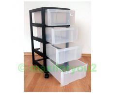 Cassettiera con rotelle, carrello, cassetti, armadio con 4 cassetti in ufficio 02010401