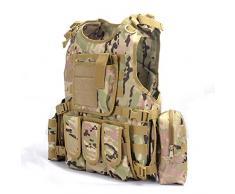 YAKEDA® Ventilatori Army Tactical Vest Cs campo Swat Tactical Vest dell'esercito all'aperto Vest Cs gioco Vest Cosplay di Counter Strike gioco Vest-322 (CP Camouflage)