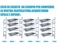 SPALLA SPALLE H300x60 cm,SCAFFALI,SCAFFALATURE,MAGAZZINO,SCAFFALATURA METALLICA INDUSTRIALI ZINCATI PORTATA 1500 KG MADE IN ITALY