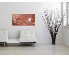 SIGEL GL269 Lavagna magnetica di vetro/bacheca di vetro Artverum, Design Pure-Copper, 91 x 46 cm