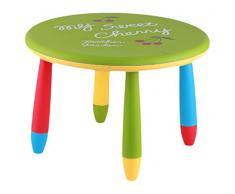 Mueblear 90048 - Tavolo rotondo per bambini, in plastica, 30 x 15 x 48 cm verde