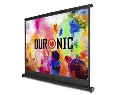 """Duronic DPS50 /43 Schermo di proiezione 50"""" formato 4:3 / 102cm X 76 cm telo proiettore da tavolo telo da proiezione per interni/esterni Full HD 3D 4K - Home cinema home theater ufficio"""