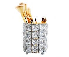 Sipliv porta pennelli trucco portapenne in cristallo artigianale penna per matita collezione di penne portaoggetti cosmetici per vanità bagno ufficio scrivania organizzatore - nastro