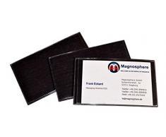 Porta etichette magnetico per scaffalature, Dimensioni: 10cm x 6cm - 10 pezzi, Buste e tasche magnetiche
