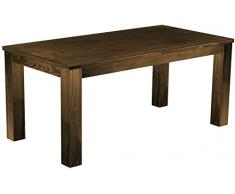 Brasil Mobili Tavolo da pranzo 'Rio classico' 177 x 90 cm, in legno di pino massiccio, tinta rovere antico