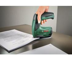 Bosch, Set da ufficio, include graffatrice elettrica + cucitrice per carta + cucitrice libretti, graffette, caricabatterie ((3,6V, 30 colpi/min) - 603968102