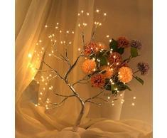 Lampada da tavolo per bonsai, albero di luci a forma di albero con luce artificiale fai da te, decorazione per la casa, la camera da letto, la luce notturna con 108 LED