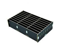 Organizzatore per telefono cellulare, 24 scomparti, in legno, per il fai da te, per la scrivania, multicolore, per ufficio e scuola Nero