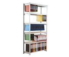 Paperflow scaffalature di uffici dt1037 - 6 - Set di 6 superiore in metallo grigio