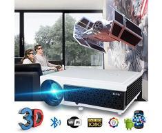 KAIDILA Proiettore, schermo LED 96+ proiettore 3D Home Theater Android 6.0 WIFI opzionale 100 pollici regalo full HD 1080p HDMI Video Proje ctor
