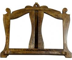 Leggio da appoggio in legno finitura noce L46xPR6xH37 cm