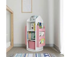 Chlyuan-hm Libreria per Bambini Bookshelf Closet Organizer mensola mensole Armadio Cabinet Organizer Scaffalature for Home Office Camera Mensola per Giocattoli (Colore : Rosa, Dimensione : 105x60cm)