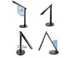 Lampade Da Scrivania A 7w LED Lumin Tekco Portatile e flessibile, Ricaricabile dimmerabili Tabella di tocco sensibile lampada di colore nero