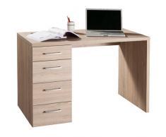 Scrivania elegante ufficio cassettiera laterale rovere sonoma SR0480 L110h74p60