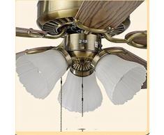 LighSCH Home Decor e ventilatori a soffitto con lampada Styleled europeo Ventilatore a soffitto Ristorante ventilatore luce illuminazione lampade diametro107cm Tre legno chiaro con il signor Telecomando