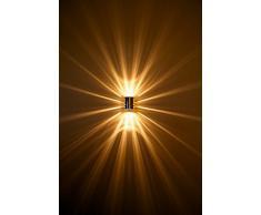 Lampada da Parete Applique con Luce Alogena 1x33 Watt Design Moderno