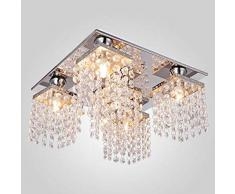 LED plafoniera cristallo soffitto moderna Corridoio Lampada K9 cristallo Illuminazione Lampadario moderno per Soggiorno Sala da Pranzo Balcone camere da letto,camere dalbergo,G9*5(Non incluso)