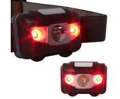 Ultra-luminoso ad alta potenza Impermeabile CREE LED Lampada frontale Flashlight lampada Testa LED Headlight per il campeggio, Correre, Caccia, Pesca e altre attivita all'aperto