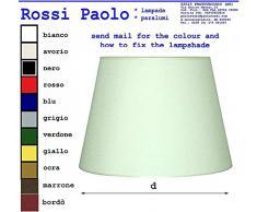 Paralume Tronco Cono Moderno in Tessuto e PVC - Produzione Propria - Made in Italy (cm 35)