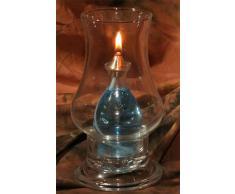 Lampada ad olio Vesuvio in vetro lavorata a mano.