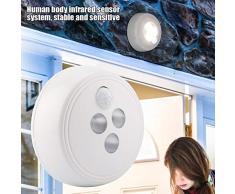 Sensore di movimento Night Light corpo umano lampada di induzione di ricarica USB LED wireless luce di notte applique da parete per corridoio armadio scale bagno camera da letto cucina (bianco caldo)