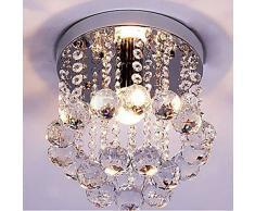 Dellemade, Mini Stil, 1 lampadario di cristallo, moderna plafoniera per scale, bar, cucina, sala da pranzo, camera per bambini