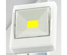 TrAdE shop Traesio LUCE A LED CON INTERRUTTORE PUNTO FARETTO LAMPADA COB 3W PER ARMADIO CANTINA